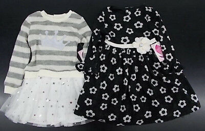 Toddler /& Girls Youngland Ivory or Black Dresses Size 2T 6X