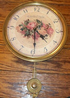 French Country Style Brass Wall Clock Le Jardin D Emilie With Pendulum
