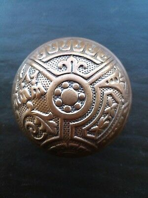 Beautiful Antique Victorian Eastlake Brass Door Knob Corbin Ceylon