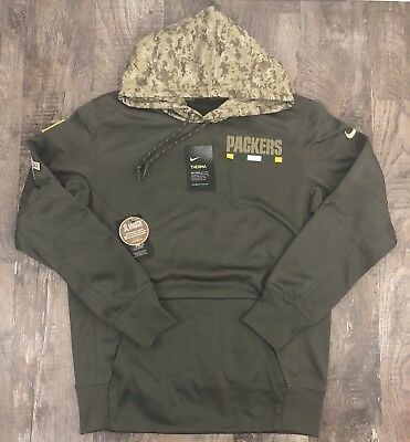 4dc0d619d Nike NFL 2017 Green Bay Packers Salute To Service Hoodie 853416 325 Sz M