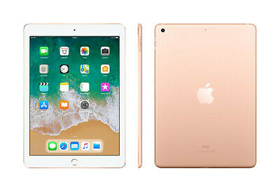 APPLE iPad (2018), Tablet mit 9.7 Zoll, 128 GB, iOS 11, Gold
