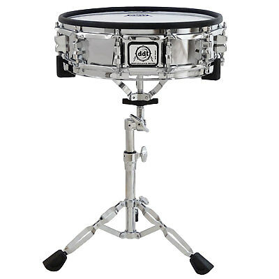 Ddt MS-140C E-Drum Snare Pad Chrome 14 Zoll + Pearl S-830 Snare Stand