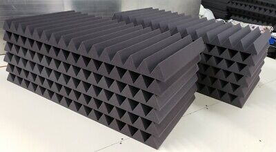 Acoustic Studio Soundproofing Foam Panels Wedge/Pyramid (12) 24'' x 48'' x 3''