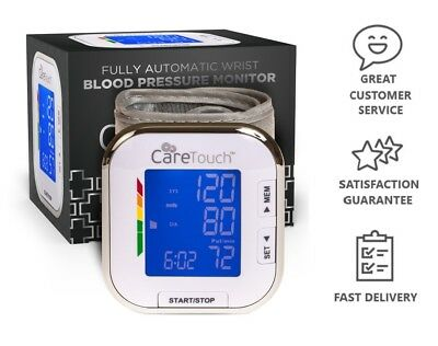 Automatic Wrist Blood Pressure Monitor Digital BP Meter by Care Touch