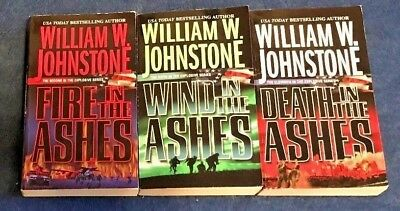 LOT of 3 ASHES THRILLERS #2, 6, 11 by WILLIAM W. JOHNSTONE