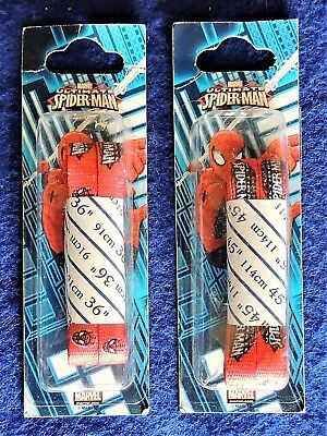 """1 Pair Spider-Man Red Shoe Laces Marvel Ultimate Choose 36"""" or 45"""" Hickory Brand"""