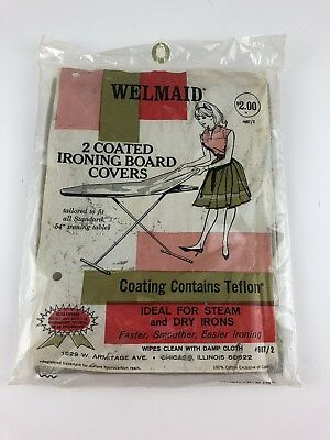 Vintage Welmaid 2 Coated Ironing Board Covers