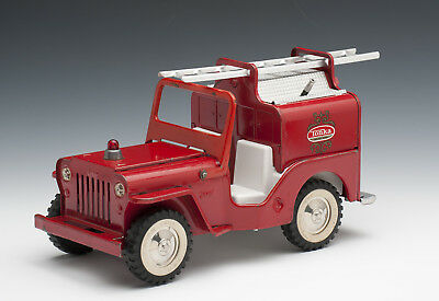 Tonka Toys, 63'-64' Fire Jeep, Brush Fire Vehicle, Nice, Unrestored Condition