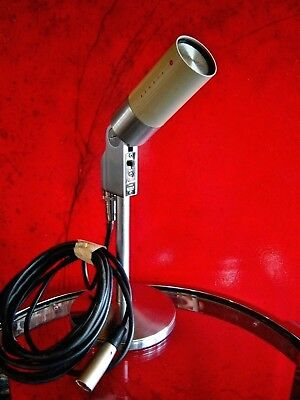 Vintage RARE 1960's Turner 44D Dynamic microphone deco old antique midcentury