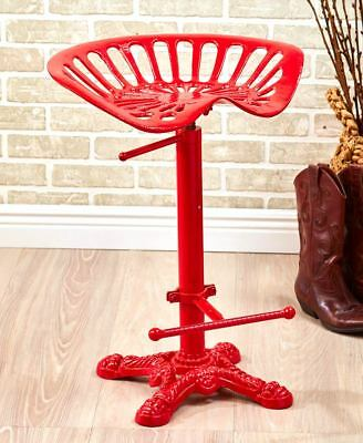 Awesome Adjustable Tractor Seat Bar Stool Rustic Cast Iron Metal Lamtechconsult Wood Chair Design Ideas Lamtechconsultcom