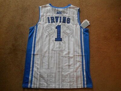 Kyrie Irving  1 Duke Blue Devils STITCH White Basketball Jersey Men XL TAGS  NEW! 7be4438bc