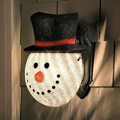 Snowman Porch Light Cover Outdoor Christmas Winter Holiday Yard Decor Nip