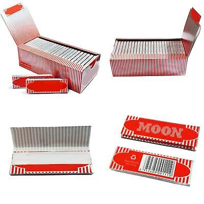 1 Box 50 Booklets Moon Red Cigarette Tobacco Rolling Papers 2500 Leaves CAL