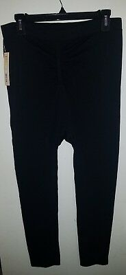 Under Control Womens Stretch Maternity Full-Length Leggings CB4 Black Medium NWT
