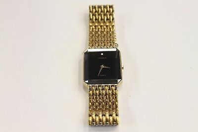 Lassale by Seiko Gold Tone Stainless w/ Gem 7N00-5A39  Mans Watch