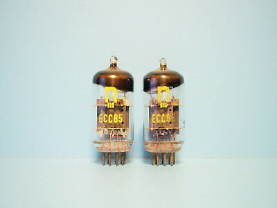 Two Nos Rft Ecc85 / 6Aq8 Audio Vintage Double Triode Vacuum Tubes From Germany