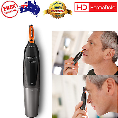 Ear Eyebrow Nose Trimmer Philips Series 3000 NT3160 with Eyebrow Combs and Pouch