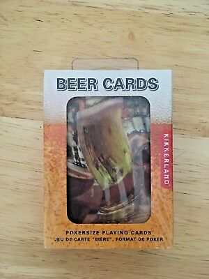 New in Unopened Box Kikkerland Beer Lenticular Poker-Sized Playing Cards