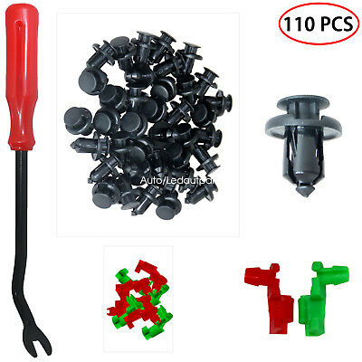 110 PCS Push Rivets Fastener Plastic Rivets 8mm Hole Auto Body Clips For Acura