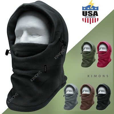 Balaclava Full Face Ski Mask Motorcycle Winter Hat Cap Unisex Fleece Trapper