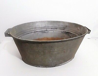 Vintage Small Size Galvanized Wash Tub