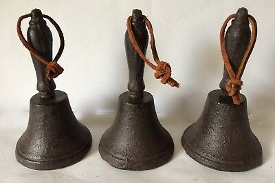 Vintage 3 Cast Iron Bells
