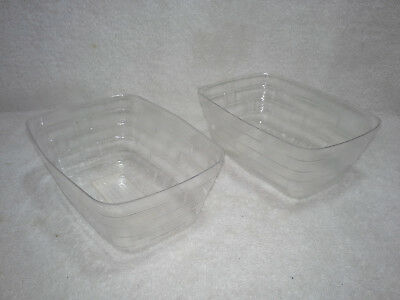Lot (2) Longaberger Basket Plastic Protector / Liner #44539 (2) Two