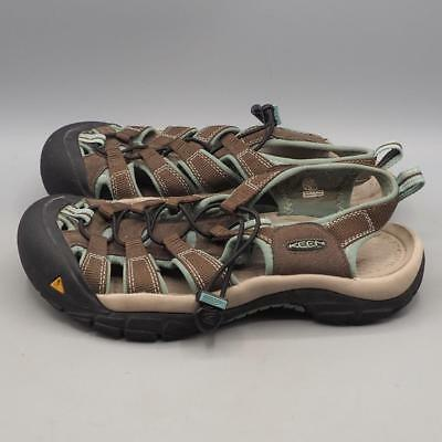 cd634bf68213 WOMEN S KEEN WHISPER Brown Leather Waterproof Sport Sandals Size 8.5 ...