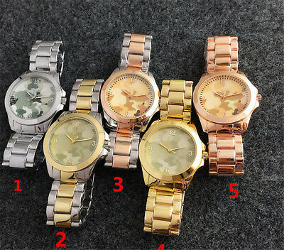 Women Men Casual Vogue Vintage Camouflage Bear Alloy Quartz Watch Wristwatch