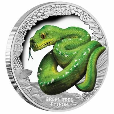 NEW Perth Mint - Remarkable Reptiles – Green Tree Python 1oz Pure Silver Coin
