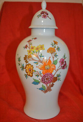 Vase urn w/ Lid, white with flowers. Germany Bavaria. Very Good Condition.