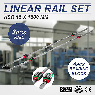 15-1500Mm 2X Rail De Guidage Linéaire 4X Bloc De Roulement Carré Good Prestige