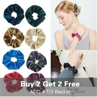 Women Velvet Scrunchies Ponytail Holder Hair Accessories Lot Elastic Hair Band