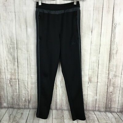 Adidas Youth Size M Black Climacool Athletic Ankle And Pocket Zipper Pants
