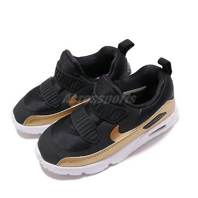 premium selection 16146 860ae NIKE AIR MAX Tiny 90 TD Black Gold White Toddler Infant Slip On Shoes  881928-006 - EUR 84,99  PicClick FR