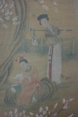 "Very Long Fine Old Chinese Scroll Hand Painting Vivid Figures ""XuDaoNing"" Marks"
