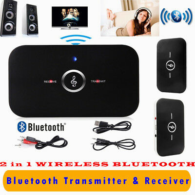 HIFI Wireless Bluetooth 2 in1 Audio Transmitter Receiver 3.5mm RCA Music Adapter