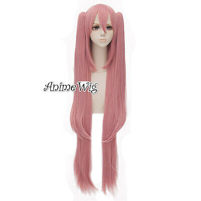 Seraph of the End Krul Tepes Cosplay Perücke Rosa 120+70cm Lovely Pferdeschwanz