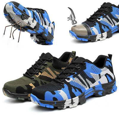 Sneakers Mens Safety Shoes Steel Toe Work Boots Sports Hiking Shoes Breathable