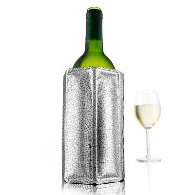 NEW Vacu Vin Active Wine Cooler Silver