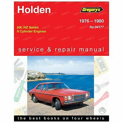 Gregory's Workshop Repair Manual Book Holden HX HZ 3.3L 6Cylinder 1976 to 1980
