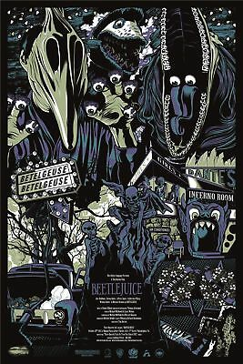 Beetlejuice Movie Art Silk Poster 8x12 24x36 24x43
