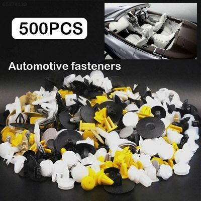 D33D 500PCS Car Bumper Clips Rivet Fasteners Push Pin Door Panel Auto Fastener