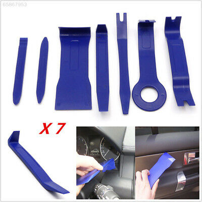 6B64 7PCS Blue High Strength Plastic Auto Car  Vehicle Audio Repair Tools Device
