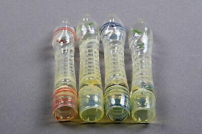 """LOT of 100 X 4"""" Glass Chillum Tornado Different Color TOBACCO Smoking Pipe Glass"""