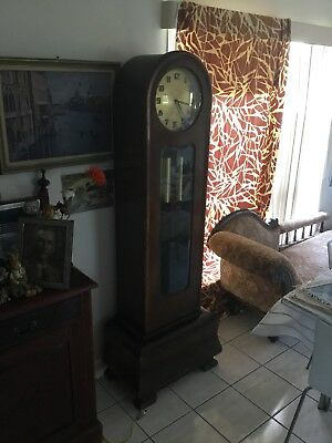 Junghan's 1930's  Antique Art Deco  Long Case Grandfather Clock