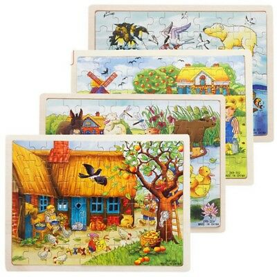 Wooden Baby Kids Jigsaw Toys For Children Educational Learning Puzzles Toy
