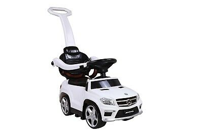 Mercedes-Benz GL-63 AMG - Slide Car 4in1 Rutschauto + Wippe weis Gummireifen TOP