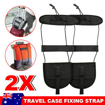 2X Adjustable Travel Luggage Bungee Suitcase Belt Add A Bag Strap Easy to Carry