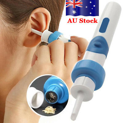 AU Electric Ear Wax Removal Vacuum Cleaning Cleaner Device Earpick Painless Tool